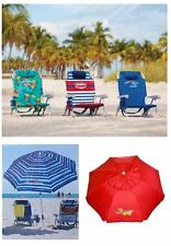Tommy Bahama 2017 COMBO PACK - 1 Umbrella + 1 Beach Chair (VARIOUS COLORS)