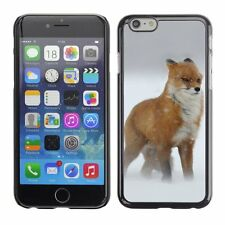 Hard Phone Case Cover Skin For Apple iPhone Fox during strong snow w