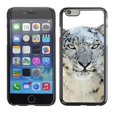 Hard Phone Case Cover Skin For Apple iPhone Snow leopard with white