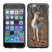 Hard Phone Case Cover Skin For Apple iPhone Fawn among fallen leaves