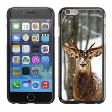 Hard Phone Case Cover Skin For Apple iPhone Strong deer in a winter