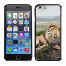 Hard Phone Case Cover Skin For Apple iPhone Ocelot cat melts lion's