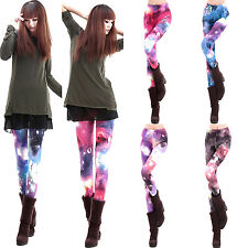 GT New Women Colorful Galaxy Print Leggings Stretchy Sexy Jeggings Pencil Pants