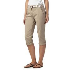 Maine New England Womens Natural Cropped Chino Trousers With Belt From Debenhams