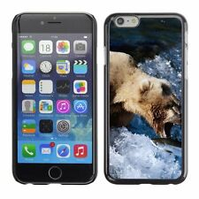 Hard Phone Case Cover Skin For Apple iPhone Bear cathes fish in the