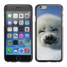 Hard Phone Case Cover Skin For Apple iPhone White fur seal baby smil
