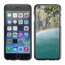 Hard Phone Case Cover Skin For Apple iPhone Rainbow above Milford So