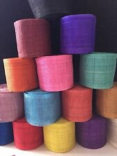 "SINAMAY RIBBON For Hats, Fascinators AND CRAFT USE VARIOUS COLOURS 4""X36"""