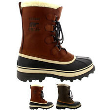 Mens Sorel Caribou WI Rain Fur Mid Calf Warm Snow Winter Leather Boot All Sizes