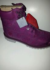 JUNIOR TIMBERLAND 6 INCH CLASSIC BOOT/ PURPLEFLORAL/ STYLE:A174B/PRIMALOFT/ECO