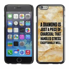 Hard Phone Case Cover Skin For Apple iPhone 4 diamond charcoal marble pink