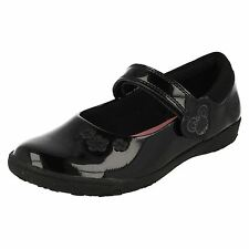 CLARKS Nibbles Sal Inf Girls Patent Leather School Shoe