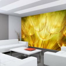 "Fleece Photo Wallpaper ""Dandelion Dreams"" ! Plant Dandelion Ocher"