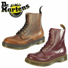 Dr Martens Pascal 8 Eye 1460 Brown Oxblood Lace Up Ladies Boots