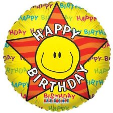 """Birthday Party Decoration Happy Birthday Smiley Face 18"""" Foil Balloon"""
