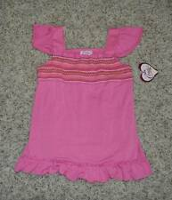 NWT $40-Girls Candies Pink Embroidered Babydoll Tank Top Shirt-size 14 & 16