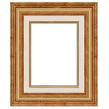 "Eli Frames Upscale Gallery Picture Frame Wood Antique Gold Leaf 2.5"" Wide NEW"