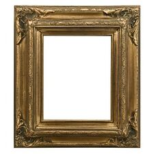 "Eli Frames Upscale Gallery Picture Frame Wood Brushed Gold Leaf 3.5"" Wide NEW"