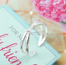 925 Solid Sterling Silver Cuff Open Adjustable Ring Size 7 -11