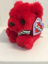 ~Puffkins ~TANGLES the Red Christmas Bear plush toy #6705 by Swibco cute LE