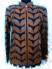 Brown Leather Leaf Jacket for Women All Colors All Regular Sizes Available