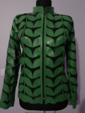 Green Leather Leaf Jacket for Women All Colors All Regular Sizes Available