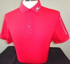 NEW MENS J. LINDEBERG Tour Tech SLIM FIT Jersey Golf Polo Shirt, RED, PICK SIZE