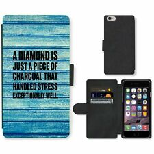 Phone Card Slot PU Leather Wallet Case For Apple iPhone 217 diamond charcoal blu