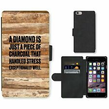 Phone Card Slot PU Leather Wallet Case For Apple iPhone 185 diamond charcoal old