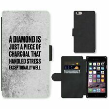Phone Card Slot PU Leather Wallet Case For Apple iPhone 172 diamond charcoal bla