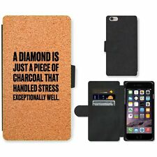 Phone Card Slot PU Leather Wallet Case For Apple iPhone 141 diamond charcoal san