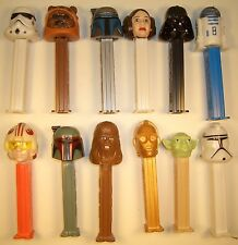 1997 STAR WARS PEZ DISPENSERS VADER,YODA,CHEWBACCA,C-3PO & STORMTROOPER NEW RARE