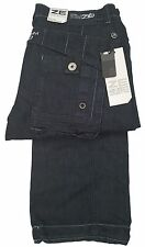 Mens Enzo Combat Jeans / Cargo Pants - EZ366 Dark Blue Denim