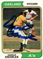 Darold Knowles autographed Baseball Card (Oakland Athletics) 1974 Topps #57