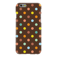 Brown & Colors Polka Dots Pattern Ultra Slim Hard Case for iPhone 6 6S 7 Plus