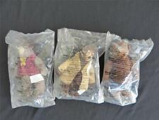 NEW - (3) Disney's Country Bears - Henry,Ted & Fred Bedderhead McDonald's Plush