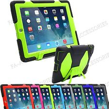 Heavy Duty Dust Shock Proof Builder Tough Stand Case Cover For iPad Samsung Tab