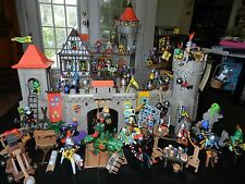 Playmobil Medieval Knights Castle Set # 3666 + 19 Complete Set Add-Ons 1994 Mint