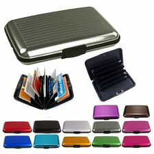 Slim Business ID Credit Card Wallet Holder Aluminum Metal Pocket Case Box PurCA