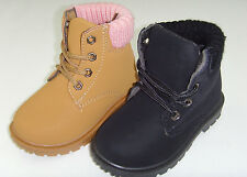 New Infant Toddler Boy's,Girl's Faux Suede Casual Combat Boots Shoes Size 6-11