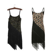 Vintage Tassel Sequined Dresses Glam Party Gatsby Dress Costumes Party Dress