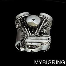 STERLING SILVER MENS RING PANHEAD ENGINE HARLEY DAVIDSON TWIN HEAD ANY SIZE