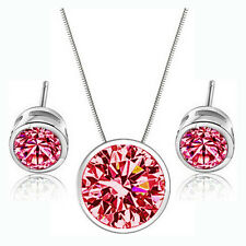 Studs Multi Colors Pendant Party Wedding Accessories Earring Necklace Sets