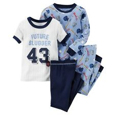 Carters Baby Clothing Boys 4-Piece Snug Fit Cotton Baseball PJs Future Slugger