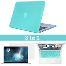 "Matte Hard Case+Keyboard Cover+Screen Protector for MacBook Air Pro 11""12""13""15"""