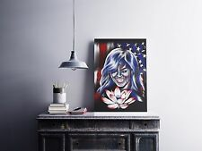 Michelle Obama - FLOTUS - First Lady United States Flag - Gallery Art Print