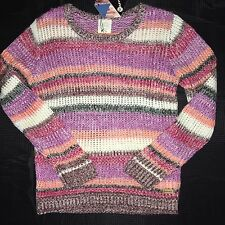Mambo Womens Knitted Jumper - Multicolor Stripe