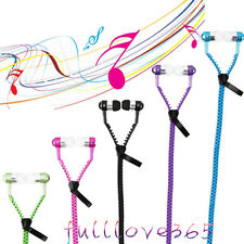 3.5mm In-ear Stereo Headset Earbuds Headphone with Mic Zipper Earphone Hot FV5#8