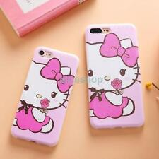 Cartoon Leopard Hello Kitty Flower Soft TPU Case Cover for iPhone 7 7 Plus 6 6S