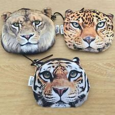 Gift Tiger Wallet Leopard Cute Bag Lion Face Zipper Coin Purse